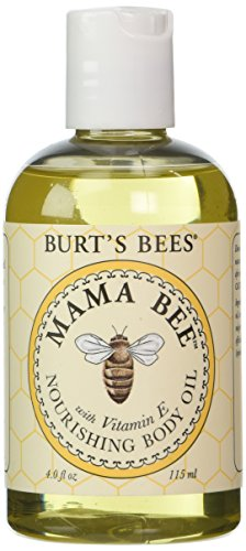 Aceite de Mama abeja corporal de las abejas de Burt con la vitamina E, botellas de 4 onzas (paquete de 2)
