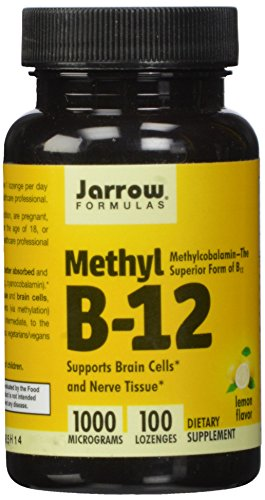 Jarrow Formulas metil-B12, sabor a limón, 1000mcg, 100 pastillas