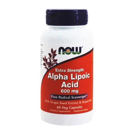 NOW Alimentos - ácido alfa lipoico 600 mg. - 60 cápsulas vegetales