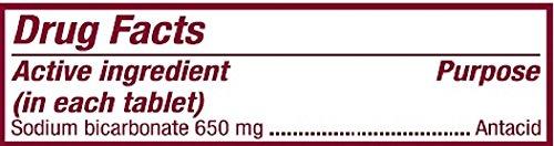 Bicarbonato de sodio 650 Mg antiácido tabletas (10 granos) 1000 tabletas por botella