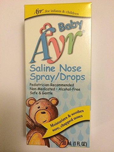 """Ayr Baby de aerosol de la nariz de solución salina, gotas 1 Fl Oz (30 Ml)"""""""
