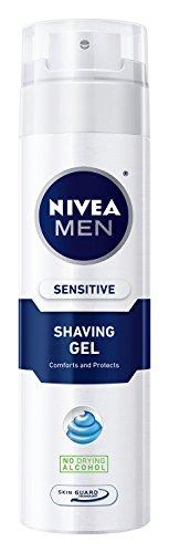 NIVEA Gel de afeitar sensible de los hombres con protector de piel, 7 oz botella