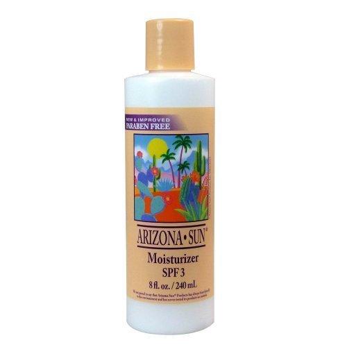 Arizona Sun hidratante SPF 3-8 oz - Natural Aloe Vera y plantas y cactus del desierto proporcionar humedad calmante para piel seca - aceite gratis - cara y cuerpo loción - crema