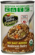 Salud Valle orgánica sin sal agregada sopa de cebada de seta, 15 onzas (Pack de 12)