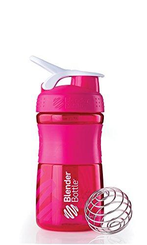 BlenderBottle SportMixer 20 onza, color de rosa/blanco
