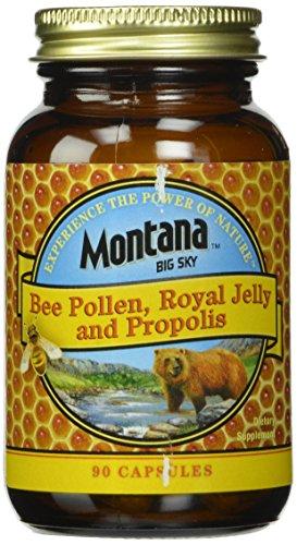 Big Sky Montana, jalea real de abeja polen y propóleo cápsulas, cuenta 90