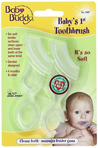 1 cepillo de dientes, claro, 2-cuenta de bebé Buddy