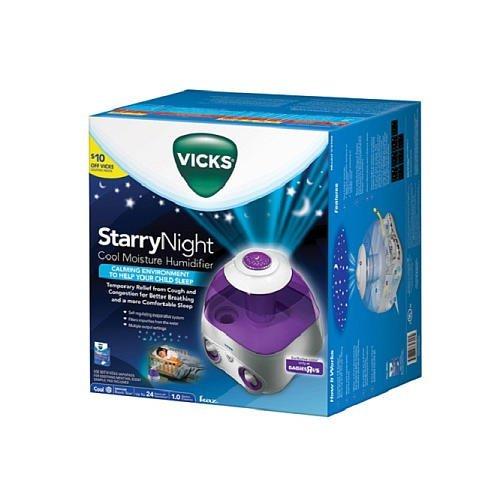 Humidificador de Vicks noche estrellada humedad fría, modelo V3700, 1 gal - púrpura
