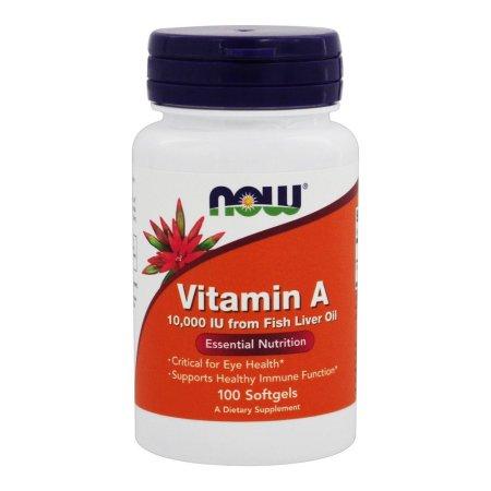 NOW Alimentos - Vitamina A 10000 UI - 100 Cápsulas Blandas