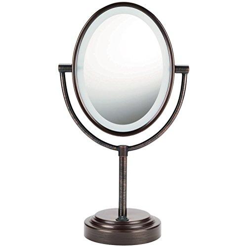 CONAIR Oval doble cara iluminada espejo - final de bronce aceitado
