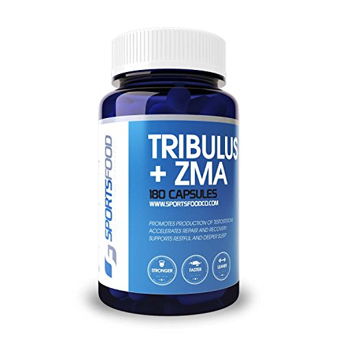 Tribulus + ZMA ® 1000 mg x 180 Caps, saponinas esteroidales del 95%, 80% protodioscina combinado con ZMA ®