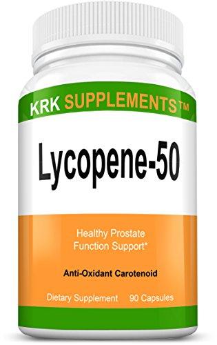 1 botella de suplementos de KRK licopeno 50mg 90 cápsulas