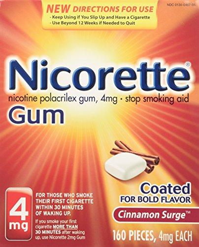 Miligramo de nicotina de Nicorette chicles canela oleada 4 cuenta dejar de fumar ayuda 160