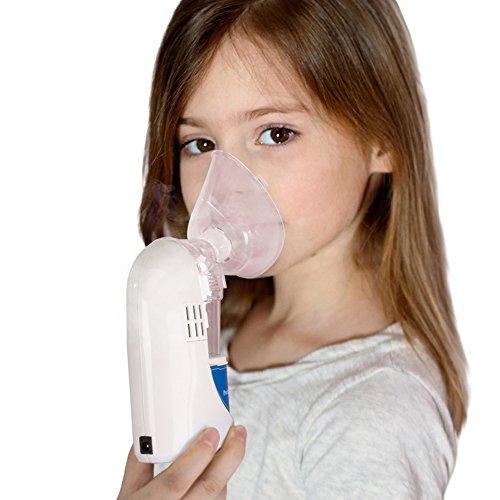Uniclife inhalador de mano con adaptador de coche cargador y un cargador de pared / vaporizador etc. / Personal fresco de la niebla del inhalador humidificador de aceite esencial de aromaterapia ultrasónico