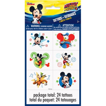 Mickey Mouse tatuajes, 24ct