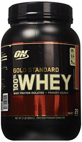 La nutrición óptima Gold Standard 100% Whey fresa delicioso--2 libras