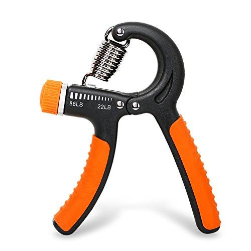 PEMOR ajustable mano agarre fortalecedor - mejor ajustable mano ejercitador fácil ajustable resistencia rango 22 a 88 libras - perfecto para aumentar la fuerza de mano muñeca dedo antebrazo