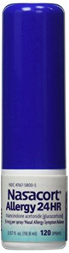 Nasacort Nasal Spray, 360 aerosoles Total, Spray tres 120 dispensadores de alergia, 0,57 onzas líquidas