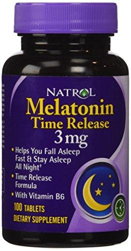 Liberación de tiempo de Natrol melatonina tabletas 3 mg
