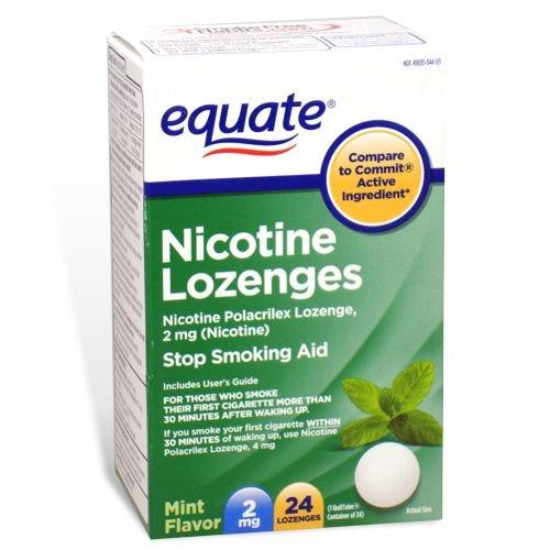 Equiparar - nicotina pastilla 2 mg, parada fumar ayuda, sabor a menta, 24 pastillas