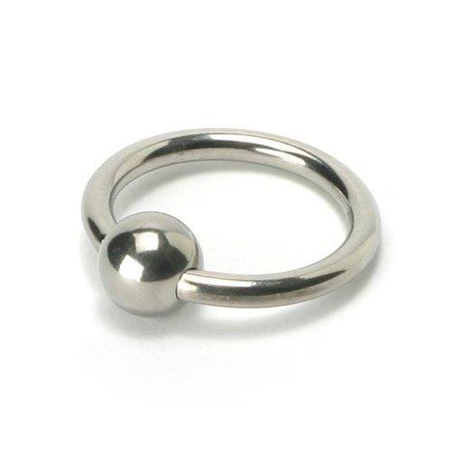 """MEJOR extremo wow sexo ~ DELUXE 1"""" martillo acero pene anillo con bola de 3/8"""" ~ enviados en paquete discreto, las facturas NO incluidas"""