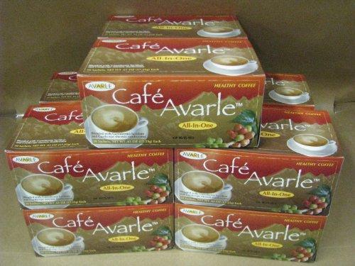 Todo-en-uno café saludable con Ganoderma y myselia. Crema, azúcar y xilitol 10 cajas (20 Pks Ea)