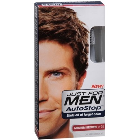 Just For Men AutoStop Color de pelo marrón medio A-35 1 Cada (Pack de 4)