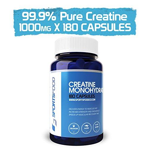 Creatina monohidrato 1000 mg x 180 tabletas, absorción rápida, crecimiento anabólico