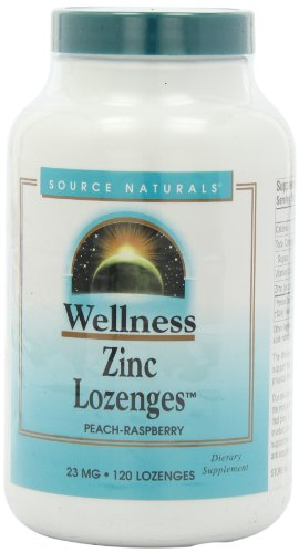 Source Naturals bienestar Zinc pastillas 23mg, 120 tabletas