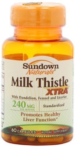 Sundown Naturals cardo XTRA 240 mg, 60 cápsulas