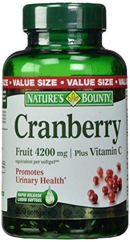 Recompensa arándano de la naturaleza fruta 4200mg / Plus vitamina C, 250 cápsulas