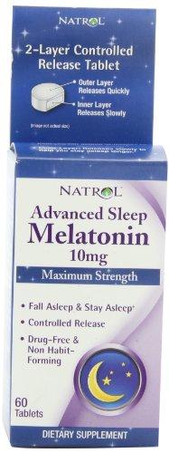 Natrol avanzada sueño melatonina tabletas, 10 mg, 60-Conde