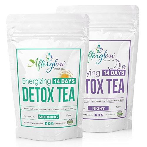 Desintoxicación y pérdida de peso té combinado (2 paquetes por la mañana y noche) - 14 días Herbal limpieza de cuerpo y té de dieta de pérdida de peso Natural con potente Garcinia cambogia - gratis PLAN de comida | por tés de Afterglow