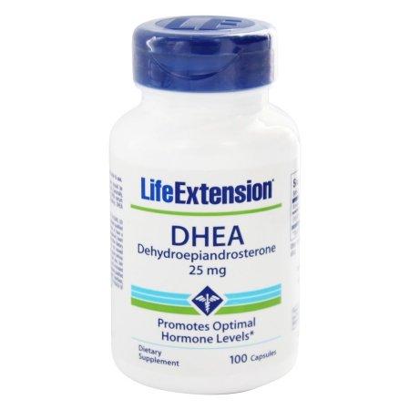 Life Extension DHEA dehidroepiandrosterona 25mg 100 Cápsulas