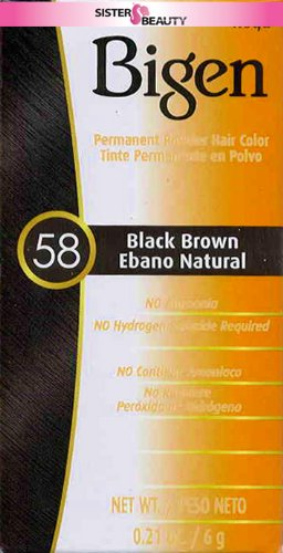 Tintes cabello Color negro 58 marrón-0.21 oz.
