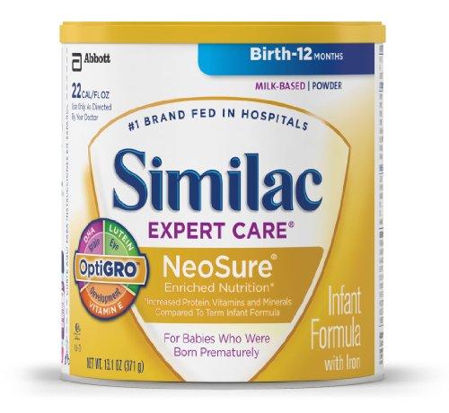 Fórmula infantil Similac NeoSure con hierro, polvo, 13,1 onzas (paquete de 6)