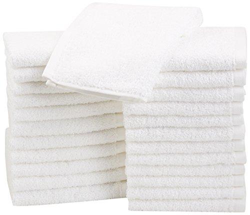 Paños de algodón de AmazonBasics - paquete de 24 blanco
