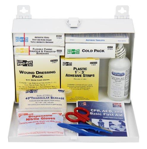 PAC-Kit de primeros auxilios sólo 6100, 143 piezas ANSI Plus, Kit de primeros auxilios 25 personas con caja de acero