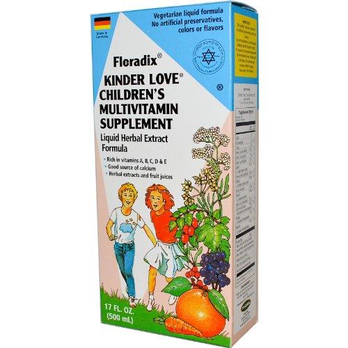 Flora, Floradix, amor Kinder, suplemento multivitamínico para niños, 17 fl oz (500 ml)