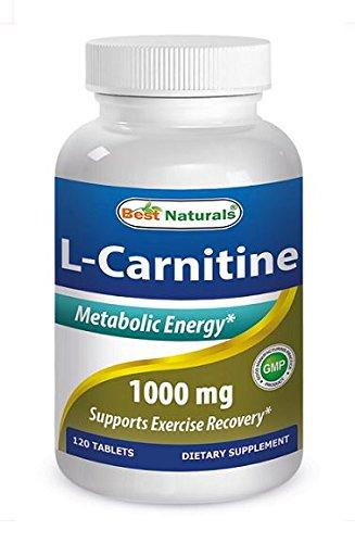 Mejor naturales L-carnitina potencia doble tabletas 1000 mg, 120 cuenta