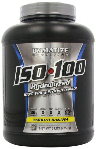 Nutrición de Dymatize ISO 100, suave plátano, 5 libras