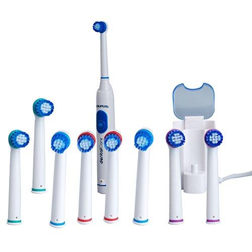 Cepillo de dientes eléctrico recargable oscilante con 9 recambio cepillo de dientes cabezas placa limpia sana Sonic Sonicare cepillos de dientes sensibles para los niños los niños movimientos de cepillado 10000 adultos