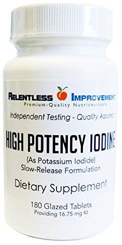 180ct 16,75 mg de yodo/yoduro tabletas farmacéutica esmaltado, de liberación lenta de yoduro de potasio.