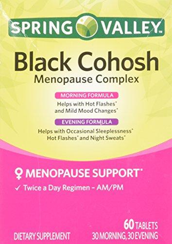 Spring Valley - cimicifuga racemosa menopausia complejo, 60 comprimidos, durante el día y noche fórmula avanzada