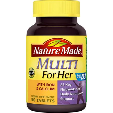 Nature Made Multi para ella con hierro y calcio - 90 CT