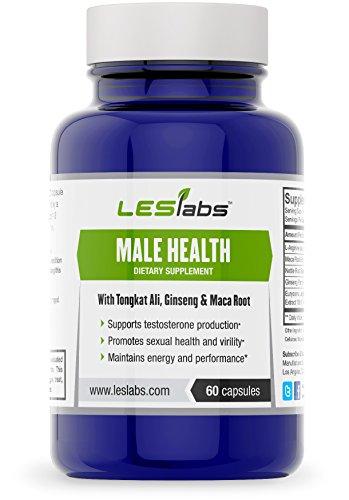 Salud masculina, la testosterona ayuda, Salud Sexual y rendimiento suplemento por LES Labs (60 cápsulas vegetarianas con Tongkat Ali y Panax Ginseng) • • fórmula Natural 100% del dinero atrás garantía