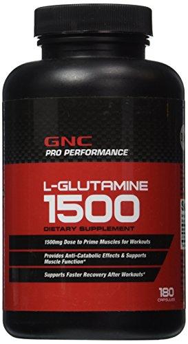 GNC Pro Performane glutamina-180 cápsulas