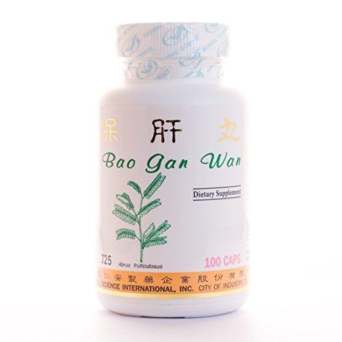Hígado guardia dietéticos suplemento 500mg 100 cápsulas (Bao Gan Wan) 100% hierbas naturales