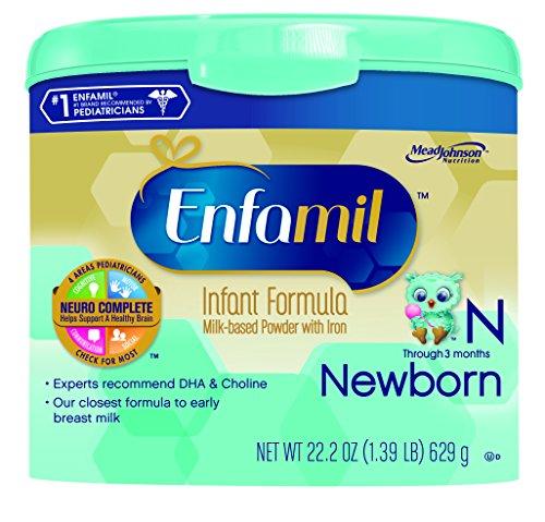 Fórmula para bebés Enfamil Newborn - 22,2 oz polvo en tina reutilizable