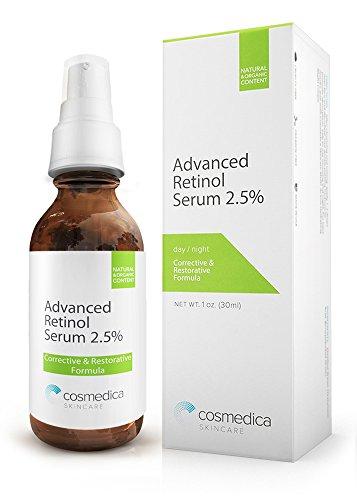 SUERO RETINOL avanzado 2,5% - correctivo reasfaltado fórmula con té verde orgánico, ácido hialurónico, vitamina E. avanzada Resufacing y reparación para reducir las arrugas, las líneas profundas y tono de piel desigual.